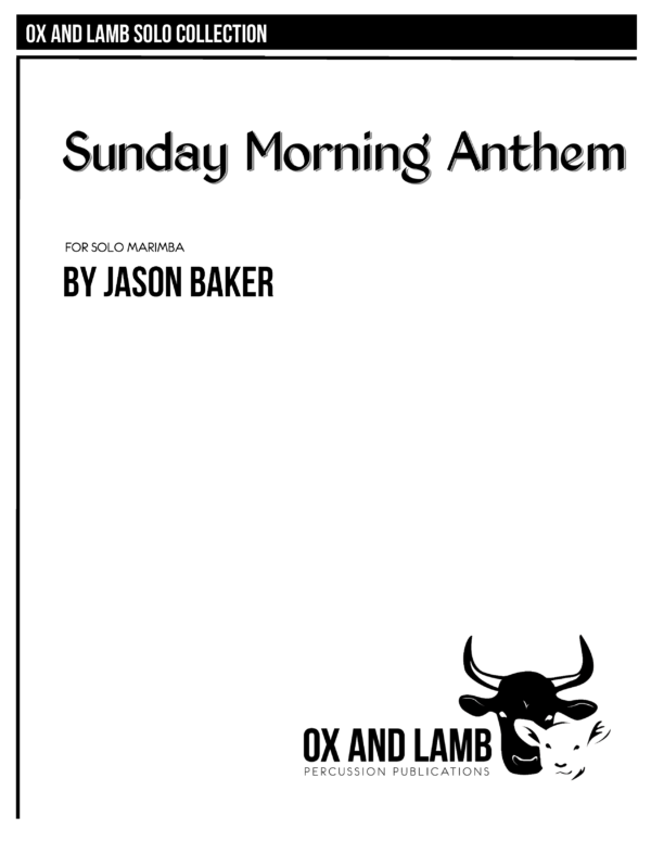 Baker_Sunday Morning Anthem_Complete Folio_Page_1