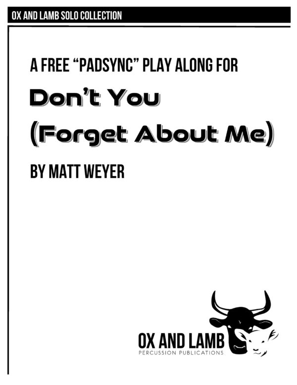 Weyer_Dont You Forget About Me_Complete_Page_1